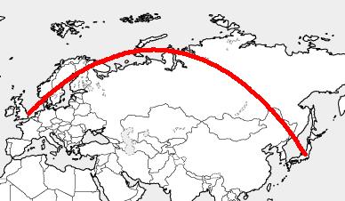 しゃべる地球儀パーフェクトグローブ飛行ルート東京ロンドン